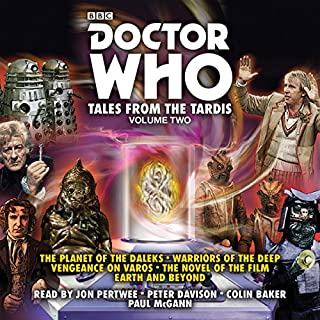 Doctor Who: Tales from the TARDIS: Volume 2     Multi-Doctor Stories              By:                                                                                                                                 Terrance Dicks,                                                                                        Philip Martin,                                                                                        Gary Russell                               Narrated by:                                                                                                                                 Colin Baker,                                                                                        full cast,                                                                                        Jon Pertwee,                   and others                 Length: 9 hrs and 57 mins     18 ratings     Overall 4.7