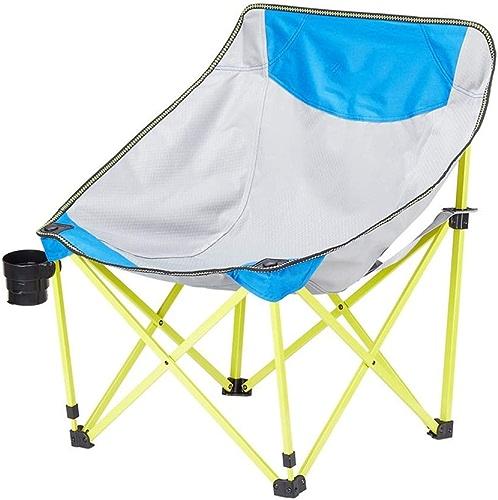 AYLS Chaise Pliante d'extérieur, Ultra-légère - Patio Sporting Touring Randonnée Pêche Camping Taille Confortable Design-avec Porte-gobelets