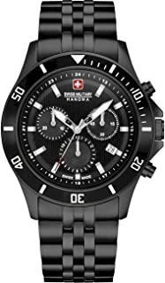 Swiss Military Hanowa - Reloj Analógico para Unisex Adultos de Cuarzo con Correa en Acero Inoxidable 06-5331.13.007