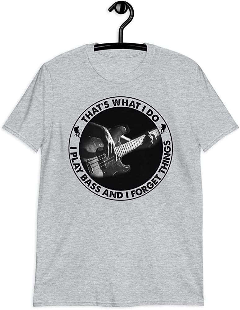 lucoin Electric Bass Guitar Player T-Shirt That's Hands Charlotte Mall Unisex Great interest