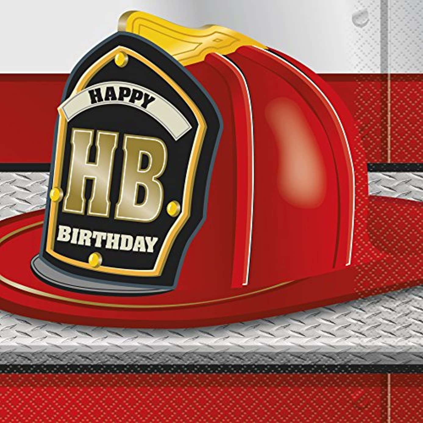 Fire Truck Birthday Party Napkins, 16ct