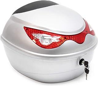 Top Case 22L zilveren koffer voor scooter, motorfiets of quad, 22 L helm koffer motorkoffer