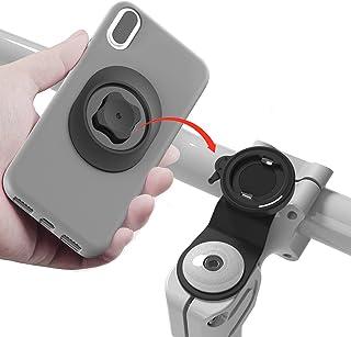 Sincetop 自転車 スマホホルダー 1秒ロックアップ ロードバイク クロス バイク すまほ ホルダー アルミ製 振れ止め 脱落防止 GPSナビ 携帯 固定用 マウント スタンド サイクリング バイク用 iPhone galaxy 多機種対応
