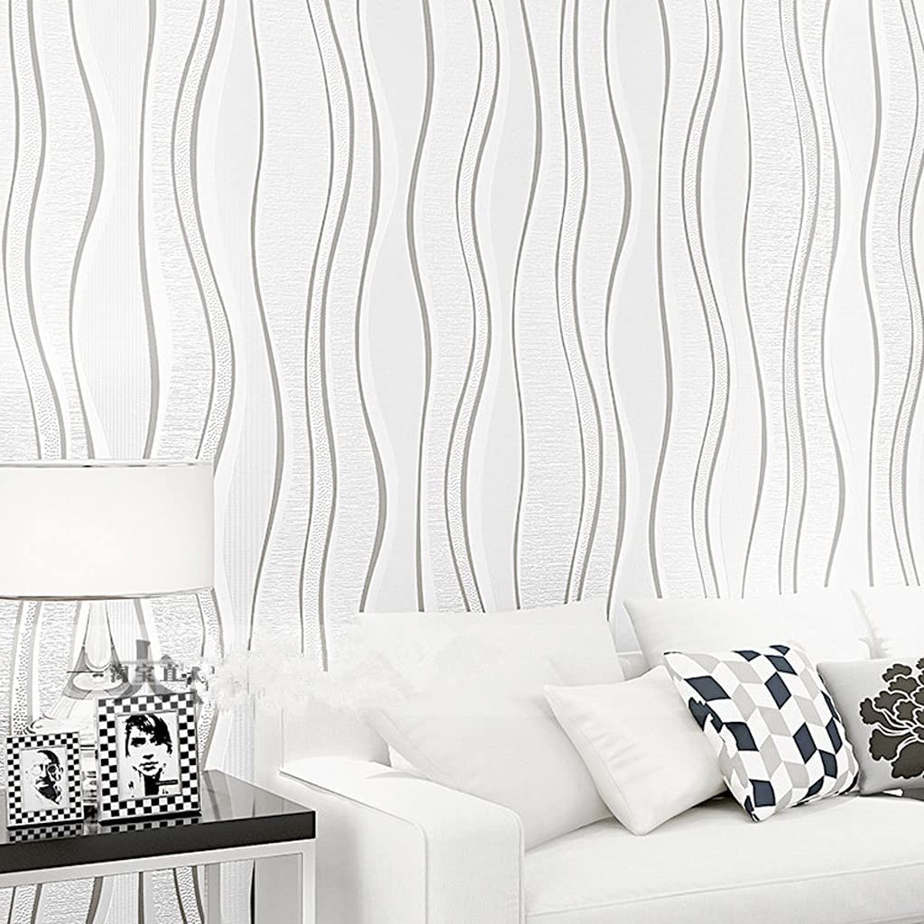 JFIA65A Simple Black White Gray Room Wallpaper OFFicial store Living Wholesale Bedr Curve