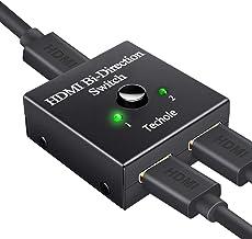 Switch HDMI, Techole Conmutador HDMI Switch Bidireccional 2 Entradas a 1 Salida o Switch 1 in a 2 out, Soporta 4K 3D 1080P, Divisor HDMI Conmutador Para HDTV / Blu-Ray Player / DVD / PS4 PS3 / Xbox