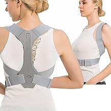 lifevv Back Posture Corrector for Kids & Women & Men + Adjustable Breathable - Effective and Comfortable Posture Brace and Shoulder Support Humpback Correction Belt for Slouching & Hunching (L)