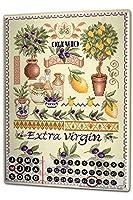 カレンダー Perpetual Calendar Adventurer Lindner Italy olive Tin Metal Magnetic