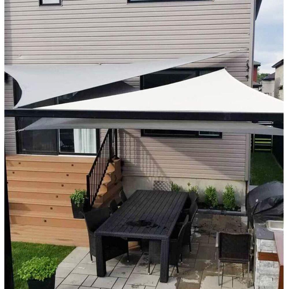 LSXIAO toldo de Tela para Sombra con Bloqueo UV, Resistente al Agua, triángulo, para jardín al Aire Libre, 7 Colores, 3 tamaños: Amazon.es: Jardín