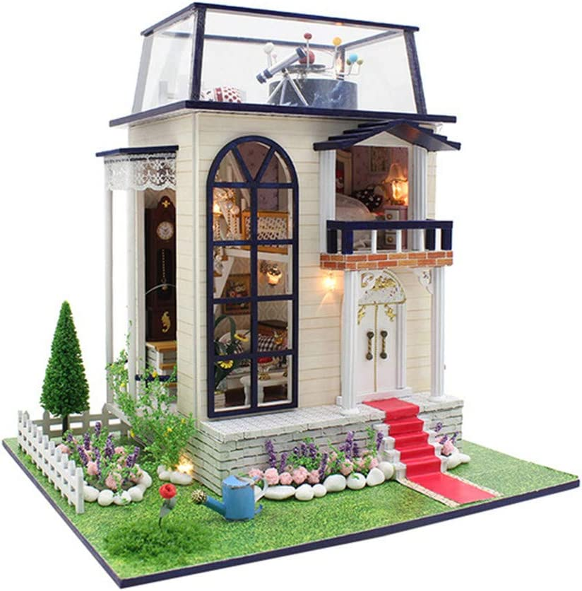 NROCF DIY Miniature 3D Wooden Tucson Mall Dollhouse Building Kits C Max 55% OFF for Toys