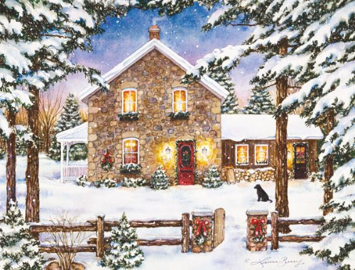 LANG - 'Nestled in the Pines', Boxed Christmas Cards, Artwork by Laura Berry' - 18 Cards, 19 envelopes - 5.375' x 6.875'