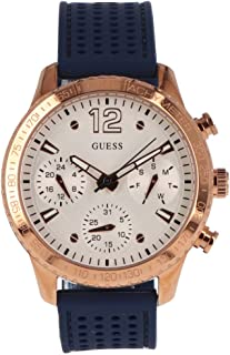 Guess Women's White Dial Leather Band Watch - W1025L4