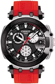 mens T-Race Chrono Quartz Stainless Steel Casual Watch Red T1154172705100