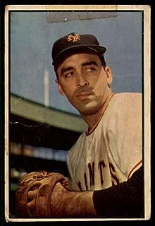 Baseball MLB 1953 Bowman Color #96 Sal Maglie G Good NY Giants
