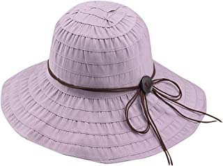 Adjustable Bucket Mesh Boonie Hat Fishing Cap,Women Casual Wide Brimmed Floppy Foldable Solid Summer Sun Beach Hat
