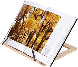 括弧を読む 木製の読書本サポートスタンド表彰台木製タブレットブックエンドブラケット本スタンド タブレットなどに