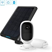 REOLINK Argus 2 with Solar Panel Rechargeable Battery-Powered Outdoor Wireless Security Camera 1080p HD Wire Free 2-Way Audio Starlight Color Night Vision w/PIR Motion Sensor & SD Socket