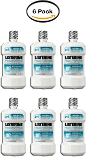 PACK OF 6 - Listerine Healthy White Restoring Fluoride Rinse For Whitening Teeth, Clean Mint, 16 Oz