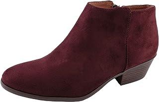 J. Adams Women\'s negro Suede Low Heel Western Ankle Bootie - 5.5 B(M) US