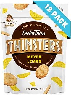 Thinsters Cookies Meyer Lemon, 4 Oz (12Count), Non GMO, Peanut Free