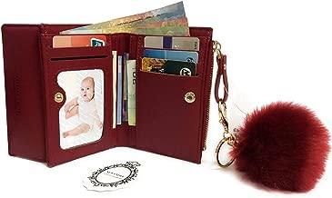 NEWANIMA Women's RFID Stops Wallet Cardholder With Zip Wallet Purse Clutch With Keychain