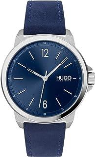 Hugo Boss Men's Blue Dial Blue Leather Watch - 1530064
