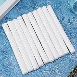 Palillo de algodón de filtro adecuado, 10pcs 65 x 10 mm Material de algodón de calidad para humidificador USB (blanco)
