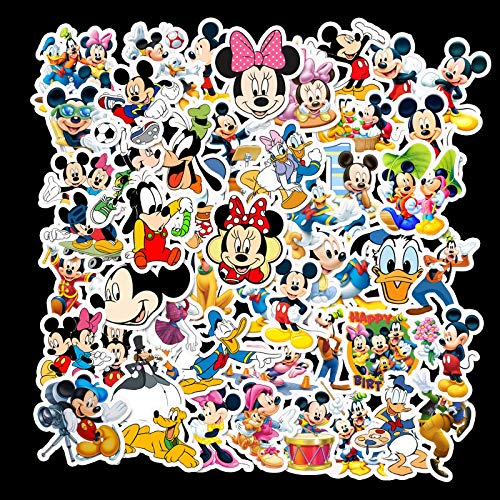 HHSM Dibujos animados Mickey Mouse bebé coche equilibrio coche etiqueta engomada equipaje guitarra portátil coche etiqueta 50PCS