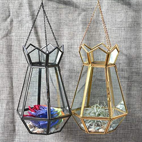 Plant Containers Creatieve Muur Opknoping Metalen Geometrische Glas Decor Terrarium Doos Tafelblad Voor Succulente Luchtplanten Mos Varen