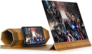 """12"""" Screen Magnifier for Smartphone, Mobile Phone 3D Magnifier Projector Screen for Movies, Videos, and Gaming, Foldable P..."""