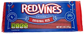 Red Vines Licorice, Original Red Flavor, 5oz Tray, Soft & Chewy Candy Twists - PACK OF 4