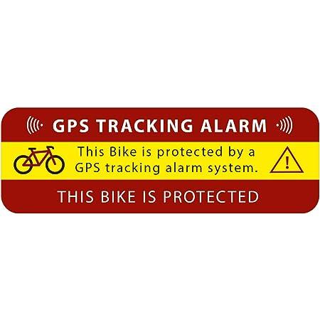 3 X GPS Autocollant Vélo Alarme Avertissement anti vol autocollant Tracker protégé