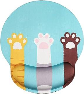AOKSUNOVA マウスパッド リストレスト 一体型 手首クッション 人間工学 手首 疲労軽減 腱鞘炎対策 可愛い 猫爪