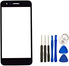 Black Front Glass Lens Replacement for LG K8 2018 SP200 LMX210MA 5'' X210 Aristo 2 Zone 4 - Front Glass Lens Lovain Touch Screen Outer Panel with Tool Kit (Not LCD &Not Digitizer &Not Screen Protector