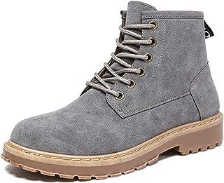 Shoes 男士 ハイトップブート ファッション カジュアル 快適な シンプル レトロ ワークブート Comfortable (Color : グレー, サイズ : 25 CM)