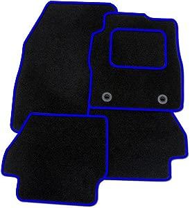 United Car Parts BLACK-BLUE-MATS-453 Tailored Car Floor Mats Carpet  Blue Black
