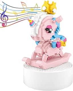 LOZ Unicorn Music Box Building Blocks (720 PCS), Unicorn Gifts for Girls, Unique Unicorn Ornament and Unicorn Toys Decor