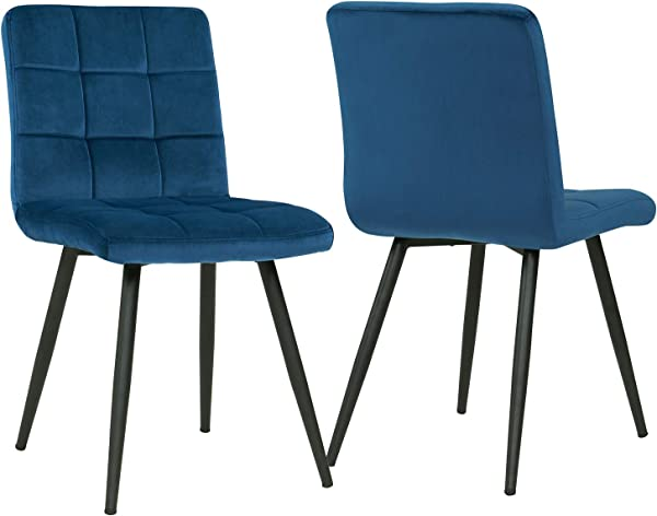 Mid Century Dining Chair Modern Accent Chairs Set Of 2 For Waiting Living Room Dining Chairs Velvet Upholstered Stools