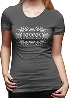 Women's Slim with Keane Hopes and Fears Design T-Shirts Deep Heather