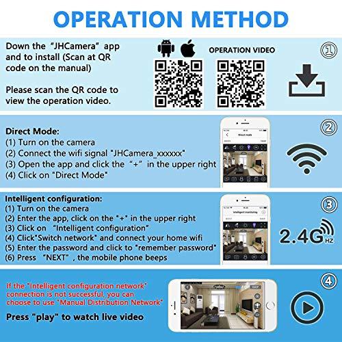 Mini Überwachungskamera IP,1080P HD Mini kameras Sicherheit Klein Kamera Videokamera für Home/Office-Sicherheit