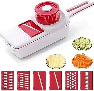6 en 1 Cutter de légumes multi-poings multi-fondues, déchiqueteuse à déchiqueteuse pour oignon de pomme de terre à l'ail C...