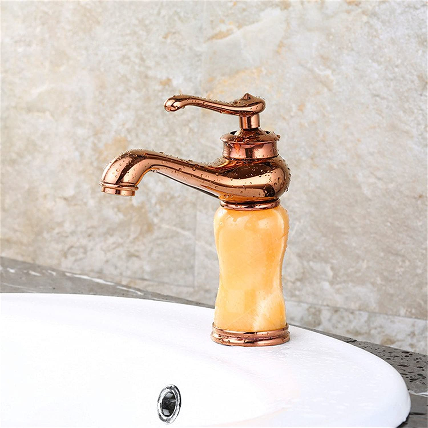 Hlluya Professional Sink Mixer Tap Kitchen Faucet The bathroom sink cold water faucet basin mixer full copper antique redating single hole faucet 7FDF