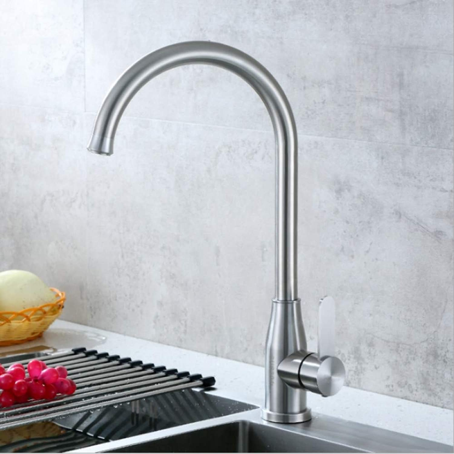 YHSGY Kitchen Taps 304 Stainless Steel Brushed Kitchen Sink Faucet Sink Hot and Cold Valve Wine Bottle Tap