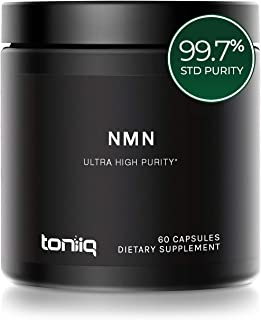 Ultra High Purity NMN Capsules - 99.7% Pharmaceutical Grade - 300mg Per Serving - Naturally Boost NAD+ Levels - 60 Capsules NMN Nicotinamide Mononucleotide Supplement