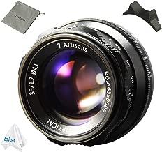 7artisans 35mm F1.2 APS-C Manual Focus Lens for Sony E Mount Camera A7, A7II, A7R, A7RII, A7S, A7SII, A6500, A6300, A6000, A5100, A5000, NEX-3