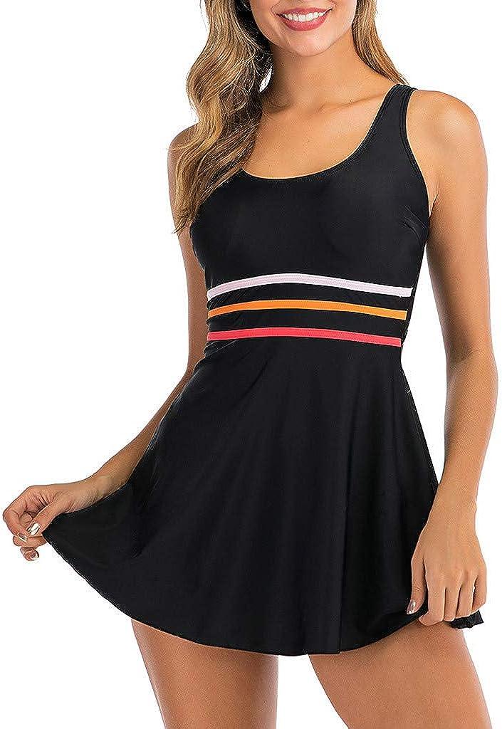 Tankini Swimsuit for Women Plus Size, DEATU Swimsuit 2 Piece Ladies Beachwear Dresses Boyleg Boyshorts Bathing Suit