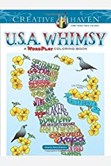 Creative Haven USA Whimsy: A Wordplay Coloring Book Paperback