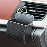 Thie2e Car Organizer Box Bag Air Outlet Dashboard Hanging Leather Universal Car Mobile Phone Holder in Automobile Interior Accessories