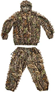 Free walker Lovexy Outdoor Camo Ghillie Suit 3D Leafy Camouflage Clothing Jungle Woodland Hunting