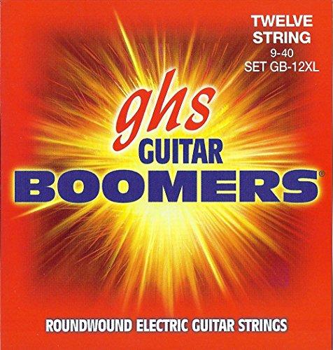 GHS BOOMERS Saitensatz für E-Gitarre - 12-saitig - GB-12XL - Extra Light - 009/040