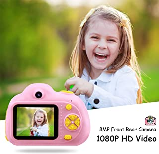 TekHome 2019 Toddler Toys for 3 Year Old Girls, 1080P Digital Selfie Kids Camera Pink for Girls with 32GB SD Card, Toys for 4-5 Year Old Girls, Christmas Birthday Gifts for 6 7 8 9 Year Old Girls.